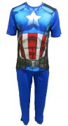 Captain America Adult Pajamas