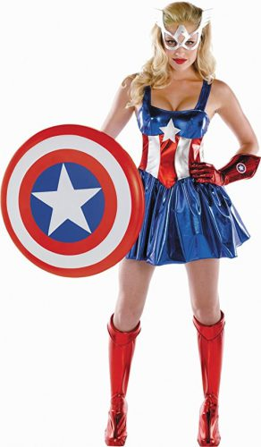 Captain America Ladies Costume