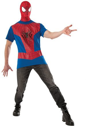 T-shirt And Mask Spiderman Costume