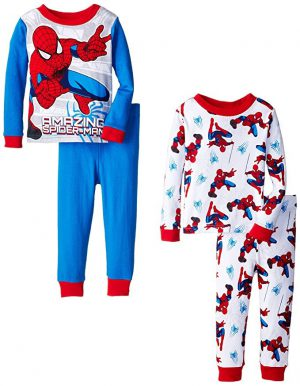2 Sets of Childrens Spiderman Nightwear