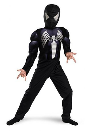 Spiderman Alien Symbiote Muscle Costume For Kids