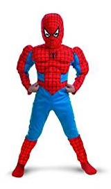 Childrens Classic Spiderman Muscle Costume