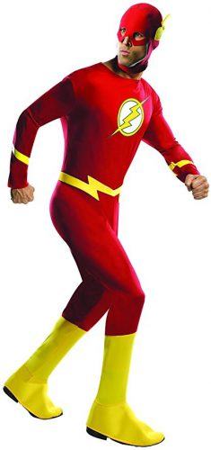 Mens Comic Book Flash Costume